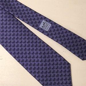 Hermès Whimsical Print Necktie
